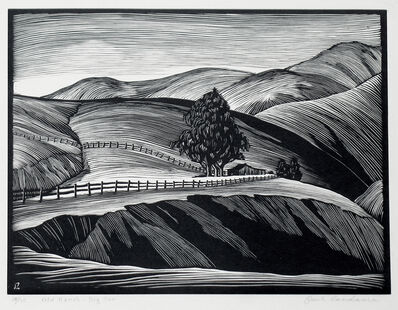 Paul Landacre, 'Old Ranch - Big Sur', 1930-1931