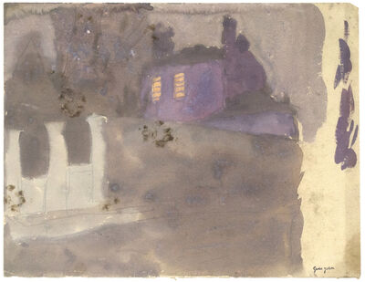 Gwen John, 'Purple House Behind Wall at Twilight, Meudon', Probably executed during the 1920s