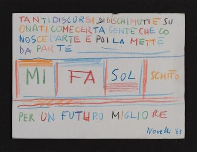 Gastone Novelli, 'Mi fa sol schifo', 1963