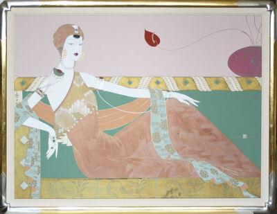 Lilian Shao, 'Art Deco Portrait-Reclining Female Figure', 1990-1999