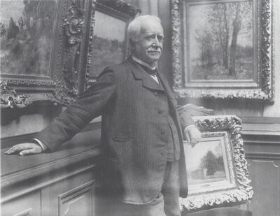 Dornac, 'Photograph of Paul Durand-Ruel in his gallery', about 1910