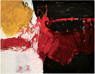 Charlotte Park, 'Untitled (Black, White, Red, and Brown)', ca. 1950