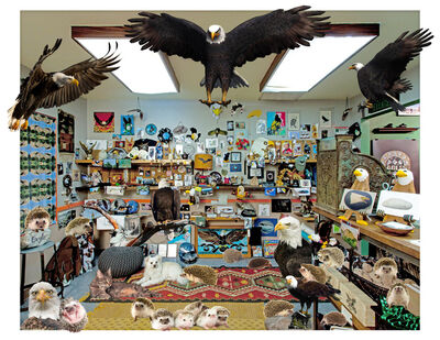 Bettina Hubby, 'The Rock and Eagle Shop, With Animals', 2017