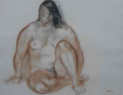 Francisco Zúñiga, 'Desnudo de Rosa', 1973