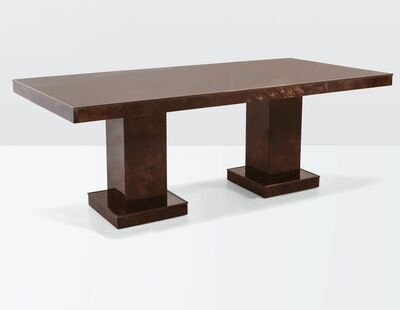 Aldo Tura, 'a table with a wooden structure, parchment coverings and brass details', ca. 1970