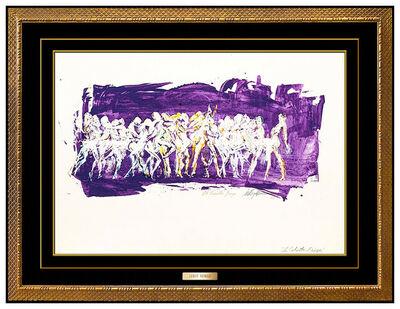LeRoy Neiman, 'LeRoy Neiman Original Painting Oil on Board Large Oh Calcutta Broadway Women Art', 1969