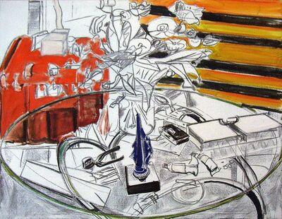 Norbert Tadeusz, 'Glastisch mit Blumen', 1984