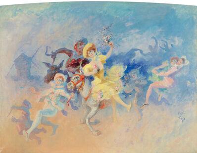 Jules Chéret, 'Farandole à Montmartre : Oil Painting', 1906