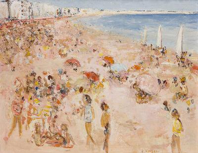 Albert Rousseau, 'Figures on a beach'