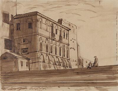 Robert Colquhoun, 'Behind Santa Maria Nuovo in Foro Romano', 1939