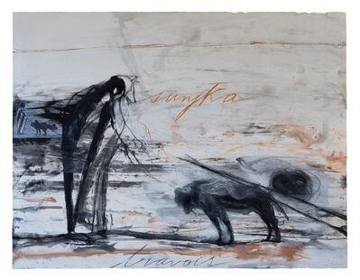 José Bedia, 'Sunjka (travois)', 2016