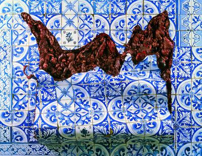 """Adriana Varejão, 'Azulejaria """"De Tapete"""" em Carne Viva  (Carpet-Style Tilework in Live Flesh)', 1999"""