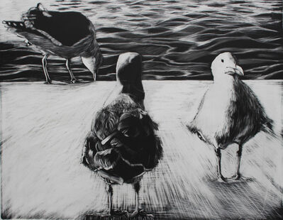 Kay Bradner, 'Three Seagulls', 2017
