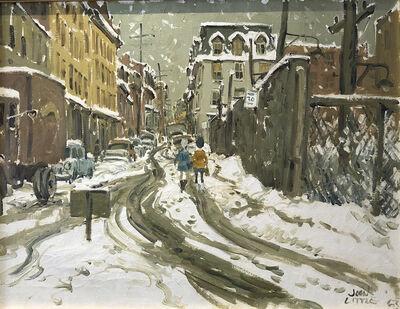 "John Caruthers Little, '""Chinatown, La Gauchetière St. at Chenneville"", 1963', 1963"