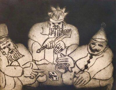 Ben-Zion Weinman, 'Purim Holiday Scene Judaica Aquatint Etching American Modernist WPA Artist', Mid-20th Century