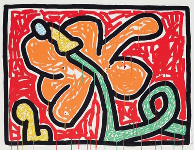 Keith Haring, 'Flowers V', 1990