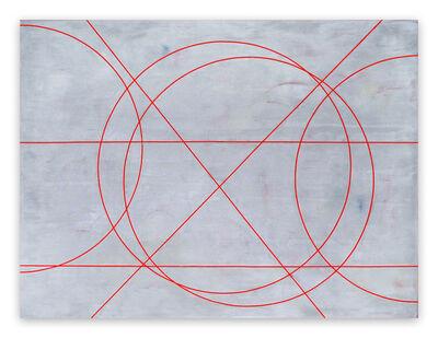 Gudrun Mertes-Frady, 'Graphite Over Red', 2015