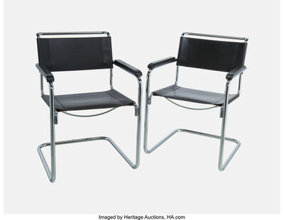 Mart Stam, 'Pair of Lounge Chairs, model S 34', 1927