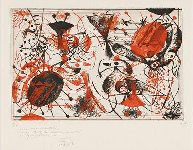 Joan Miró, 'Série Noire et Rouge ', 1938
