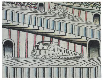 Martín Ramírez, 'Untitled (Trains on Inclined Tracks)', ca. 1960-1963