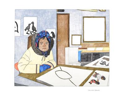 Kudluajuk Ashoona, 'Untitled (Drawing at the Co-op)', 2019