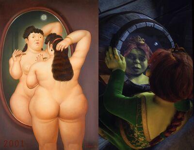 Bonnie Lautenberg, '2001 - Shrek - Fernando Botero, Nude in Mirror', 2018