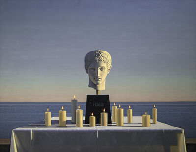 David Ligare, 'Still Life with Polykleitian Head and Candles (Idea)', 2018