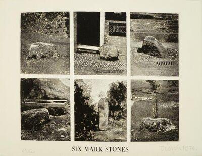 Joe Tilson, 'Six Mark Stones', 1976