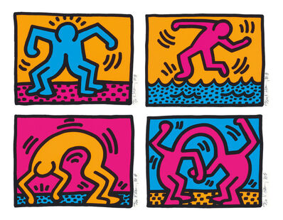 Keith Haring, 'Pop Shop II  Complete Portfolio (four pieces)', 1988