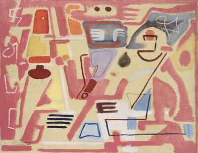 Max Ackermann, 'Schräge auf Violett', 1946