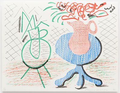 David Hockney, 'Jug on a Table', 1986