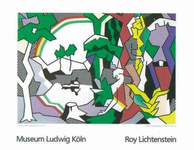 Roy Lichtenstein, 'Landscape with Figures and Rainbow', 1980