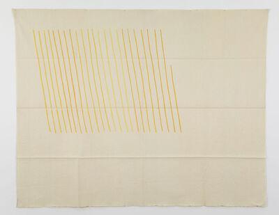 Giorgio Griffa, 'Obliquo giallo', 1971