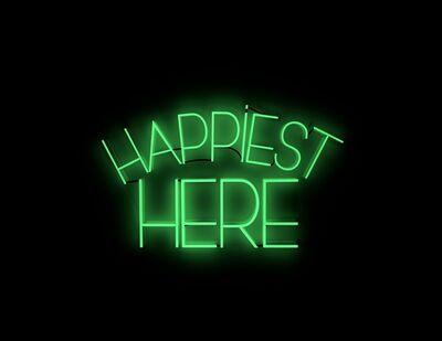 Mary Jo McGonagle, 'Heppiest here - neon art work', 2017