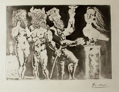 Pablo Picasso, 'Personnages Masqués et Femme Oiseau', 1934