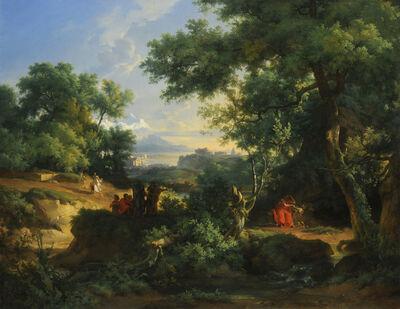 Achille Etna Michallon, 'Democritus and Abderites', 1817