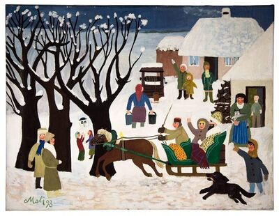 Hajo Malek, 'Winter in the Village, the Sleigh Ride', 1990-1999