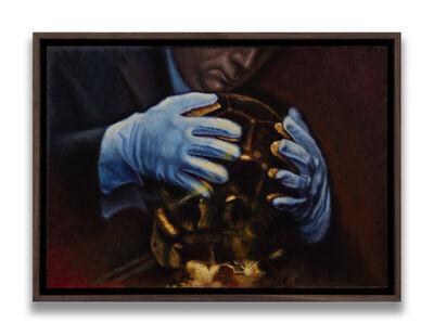 Gianni Di Rosa, 'Studio per Golden Ball (Totenkopf)', 2020