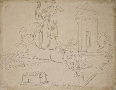 Giorgio de Chirico, 'Puritains se font sur un Centaure courant', 1934
