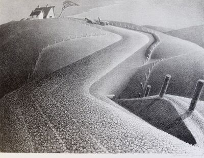 Grant Wood, 'March', 1941