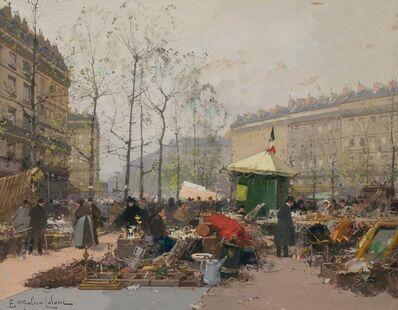 Eugène Galien-Laloue, 'Le Marche aux Puces'