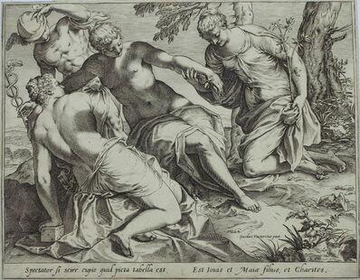 Agostino Carracci, 'Mercury and the Three Graces', ca. 1589