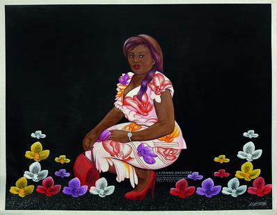 Chéri Samba, 'La femme orchidée', 2003
