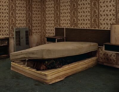 Taryn Simon, 'Larry Mayes Scene of arrest, The Royal Inn, Gary, Indiana', 2002