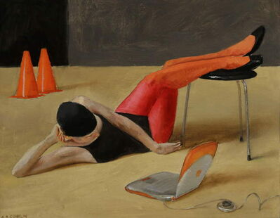 Andrew S. Conklin, 'Heather Reclining in Magenta Tights', 2018
