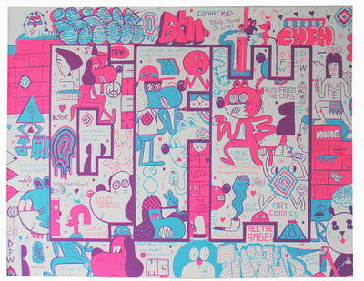 Barry McGee, 'DFW Screen Print #1', 2011