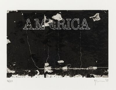 Glenn Ligon, 'America', 2015