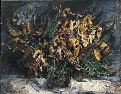 Yosl Bergner, 'Yellow  Winter Flowers', 1980