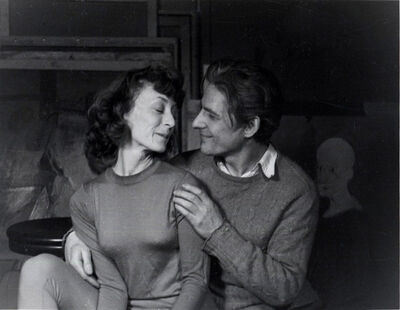 Ellen Auerbach, 'Elaine and Bill de Kooning, NY', 1944