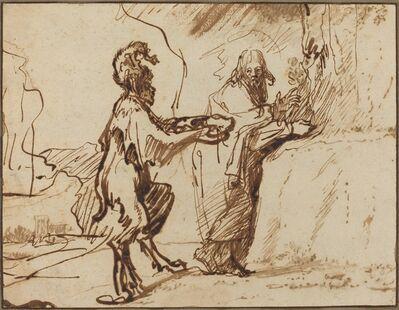 Rembrandt van Rijn, 'Satan Tempting Christ to Change Stones into Bread', 1635/1640